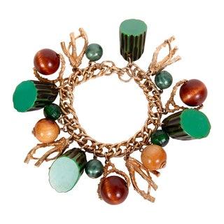 Bakelite Twig Charm Bracelet