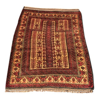 Vintage Persian Baluchi Prayer Rug - 3'x4'3""