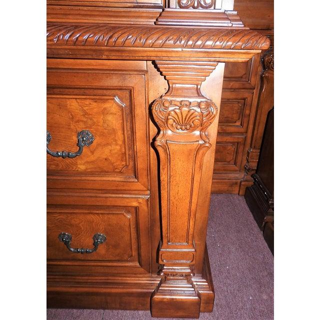 Image of Luxury Cherry Tv Armoire & Dresser Set