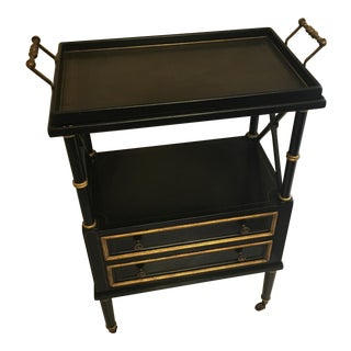 Mid-Century Black Bar Cart