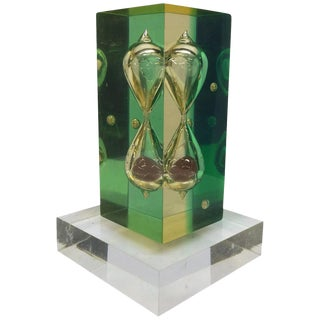 Unusual Little Lucite Hourglass