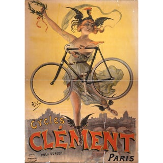 Print of French Bicycle Advertisement From 1800's