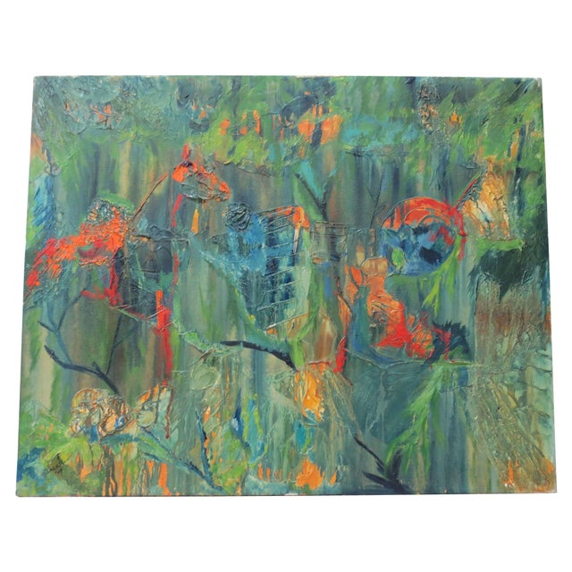 Jackie Johnson Vintage 1960's Abstract Painting - Image 1 of 5