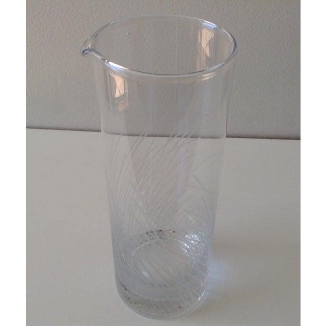 Image of Vintage Etched Martini Cocktail Glass Carafe