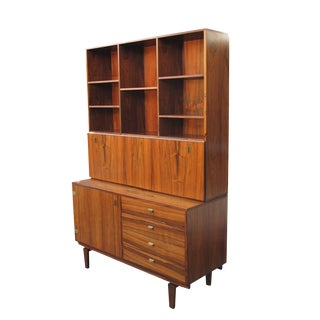 Peter Lovig Rosewood Secretaire Desk and Cabinet