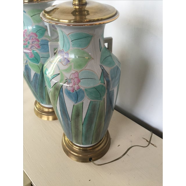Chinoserie Hand Painted Fredrick Cooper Lamps - 2 - Image 7 of 9