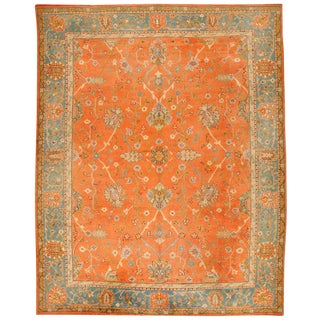 Antique 19th Century Turkish Oushak Carpet