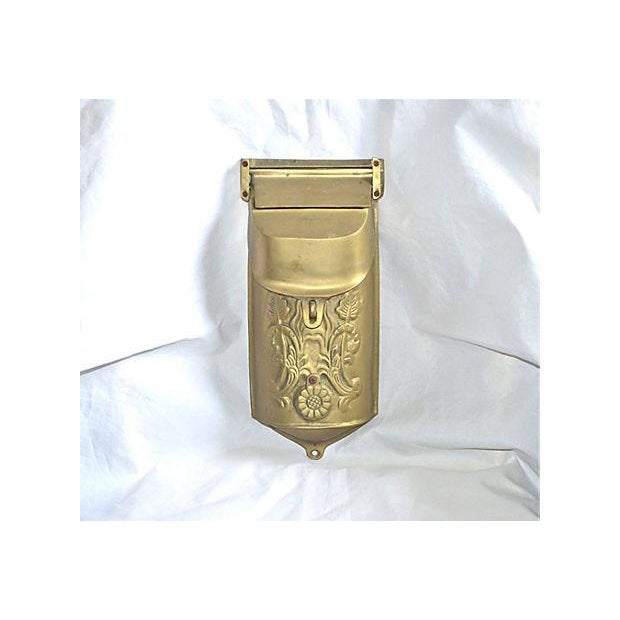 Vintage Brass Mailbox With Peephole - Image 2 of 11