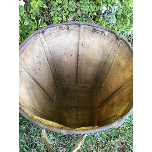 Maine Weaving Company Canvas Basket On Wheels - Image 6 of 8