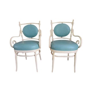Palm Beach Regency Bentwood Chairs - A Pair