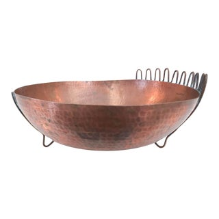 Mid Century Decorative Copper Bowl