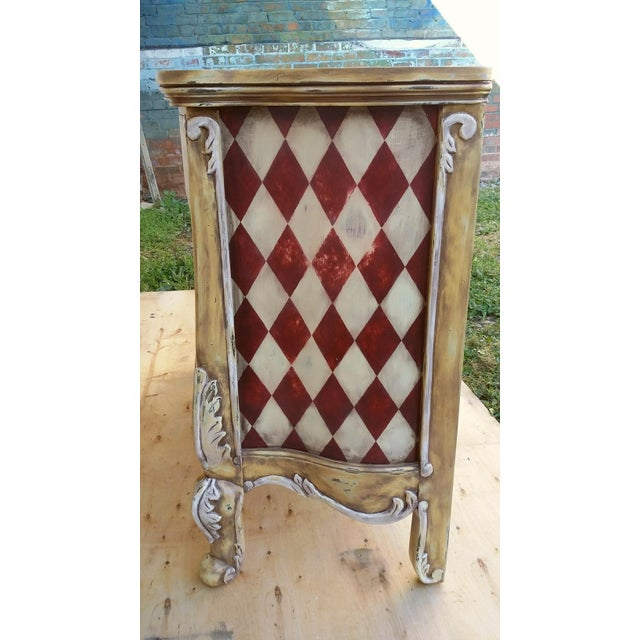 Hand Painted Harlequin French Dresser - Image 4 of 9