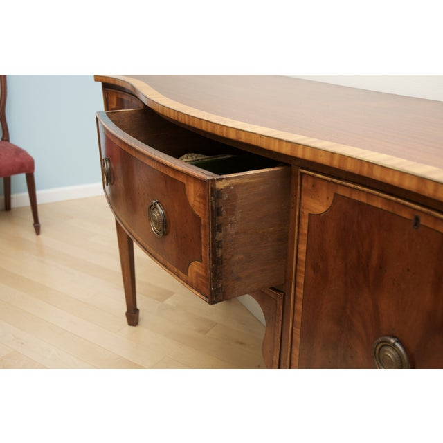 Antique Mahogany Serpentine Buffet Sideboard - Image 5 of 10