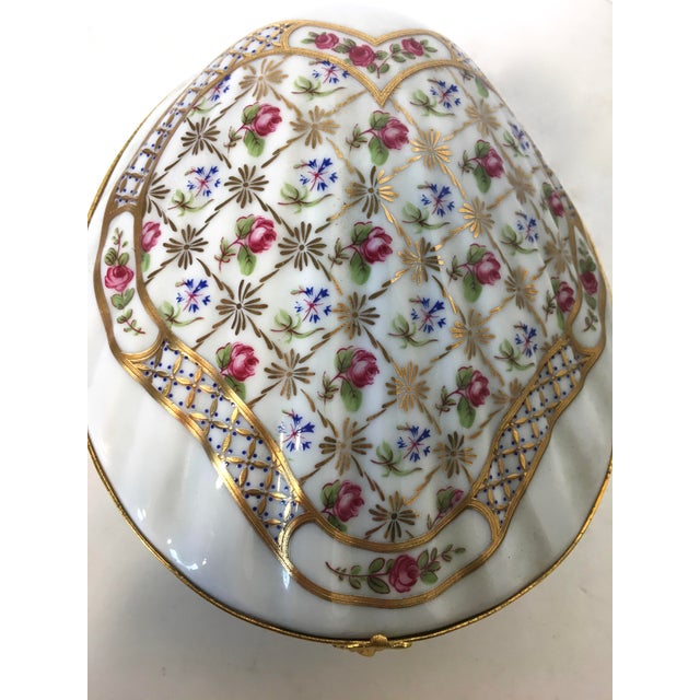 Large Clam Shell Limoges Trinket Box - Image 4 of 6