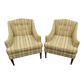 Classic Regency Lounge Chairs, A Pair