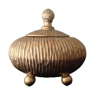Gold Decorative Box with Lid