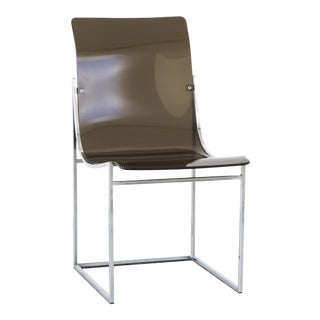 Lucite + Chrome Side Chair