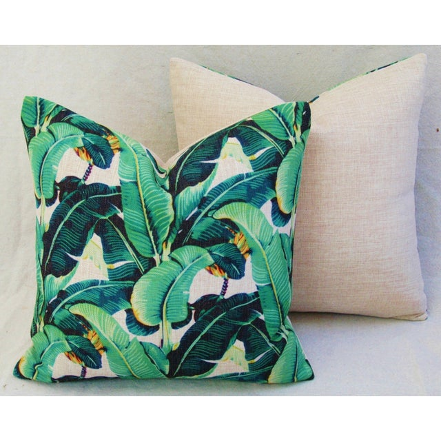 Dorothy Draper-Style Banana Leaf Pillows - A Pair - Image 7 of 10