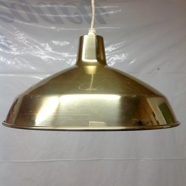 Danish Modern Brass Pendant Light - Image 2 of 4