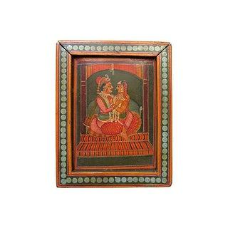 Hand-Painted India Wood Box