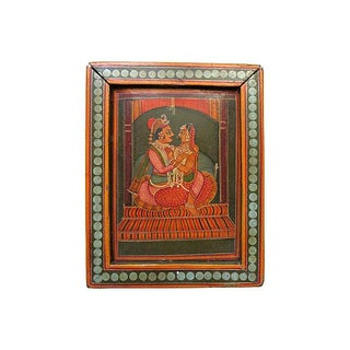 Hand-Painted India Wood Box