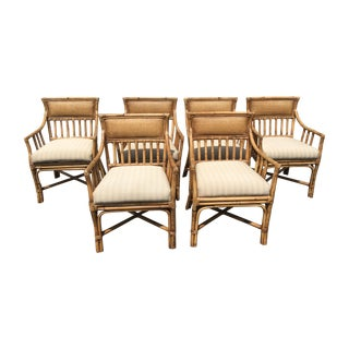 Palecek Bamboo Dining Chairs - Set of 6