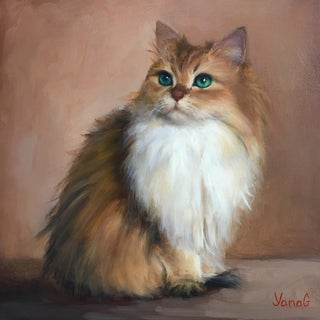 Cat Painting by Yana Golikova