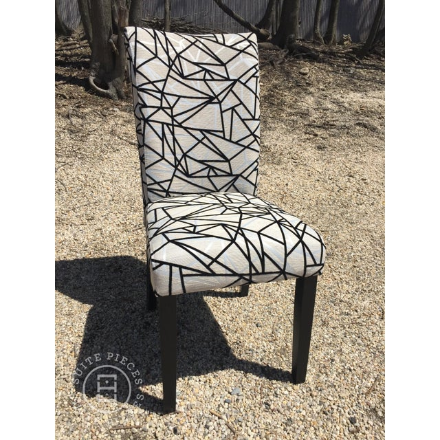 Modern Rolled-Back Dining Chairs - A Pair - Image 3 of 4