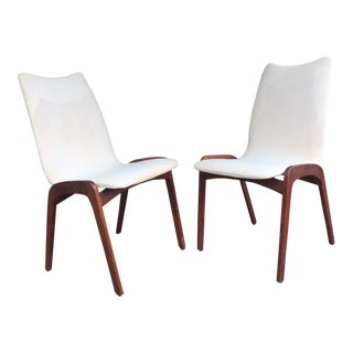 Chet Beardsley Mid-Century Walnut Side Chairs - A Pair