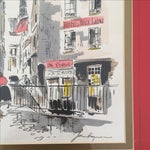 Image of Vintage French Pen & Ink Original Art