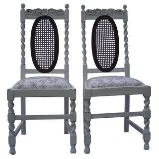17th Century Style Chairs - A Pair