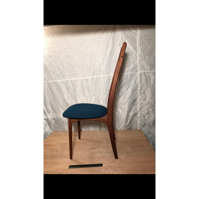 Mid-Century Blue Dining Chair - Image 5 of 6