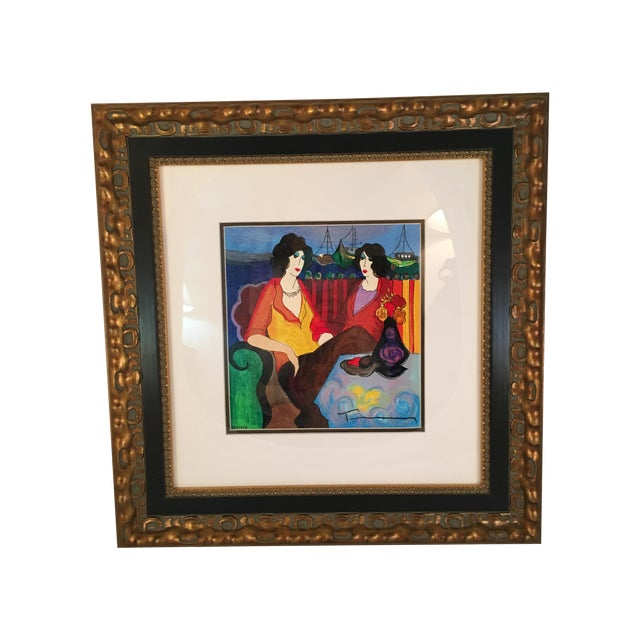 "Image of Itzchak Tarkay ""At thePort"" Signed and Numbered"
