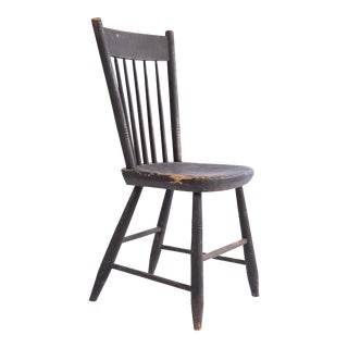 Black Rustic Wooden Chair