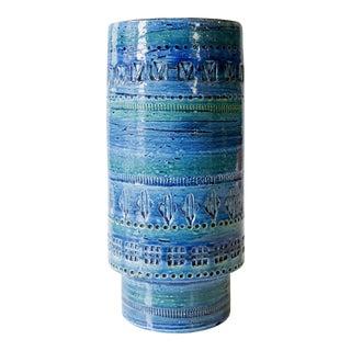 Bitossi Rimini Blu & Aldo Londi Blue Ceramic Vase
