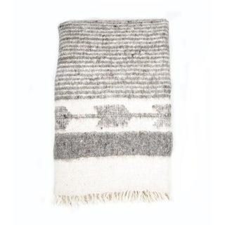 Grey & White Wool Blanket