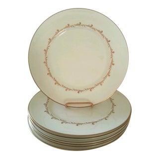 Vintage Ivory & Gold Dinner Plates - Set of 7