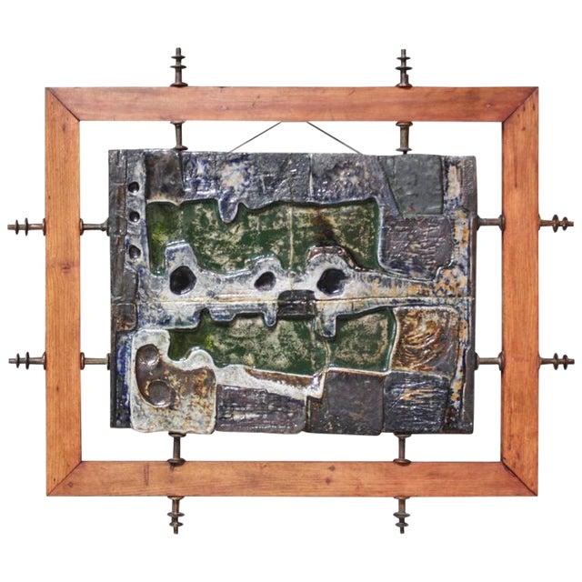 Monumental Mounted Polychrome Stoneware Panels by Mario Ferreira Da Silva - Image 1 of 10