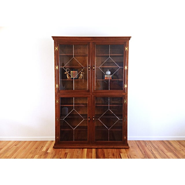 Image of Vintage 1960s Custom Enclosed Bookcase