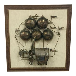 C. Jere Style Steampunk Metal Wall Sculpture