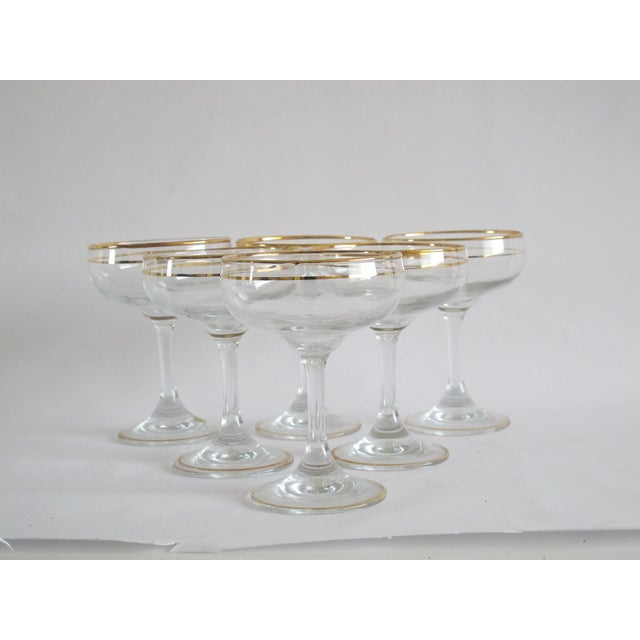 Italian Gilded Champagne Coupes - Set of 6 - Image 3 of 4
