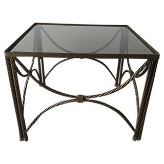 Gilt Rope Side Table