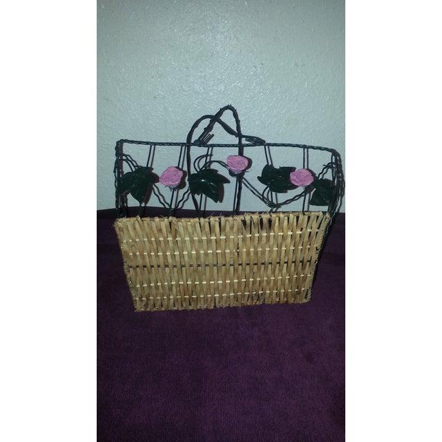 Wicker & Wire Basket - Image 2 of 5