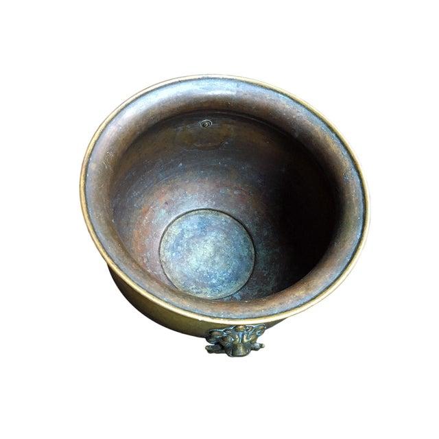 Antique Brass Jardiniere - Image 4 of 4