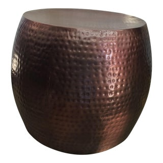 Hammered Copper Side Table