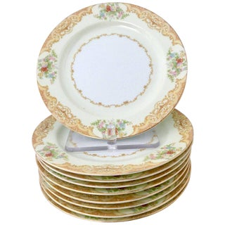 Japanese Hand-Painted Dessert Plates, 1030s - Set of 10