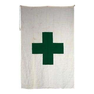 Vintage International Green Cross Flag