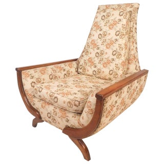 Adrian Pearsall Style Mid-Century Modern High Back Lounge Chair