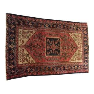 Vintage Persian Heriz Rug - 4′ × 6′