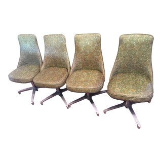 Chromcraft Mid-Century Green Dining Chairs - Set of 4